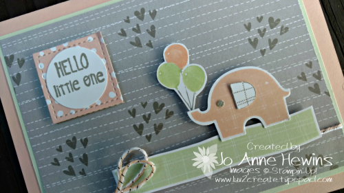 Little Elephant bundle close up of card by Jo Anne Hewins