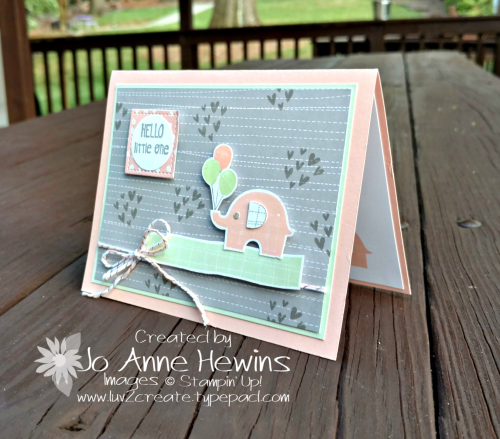 Little Elephant stamp set and Elephant Builder punch bundle by Jo Anne Hewins