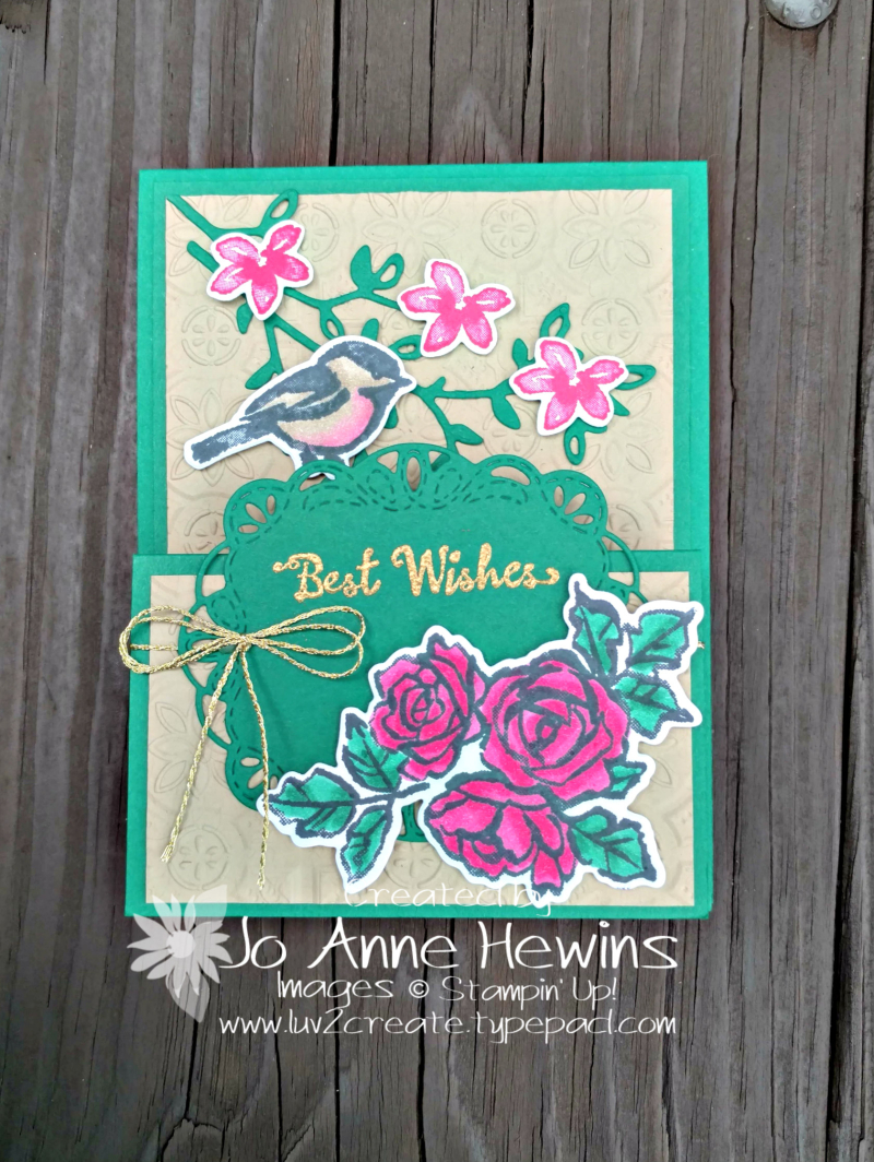 Petal Palette Fun Fold card by Jo Anne Hewins
