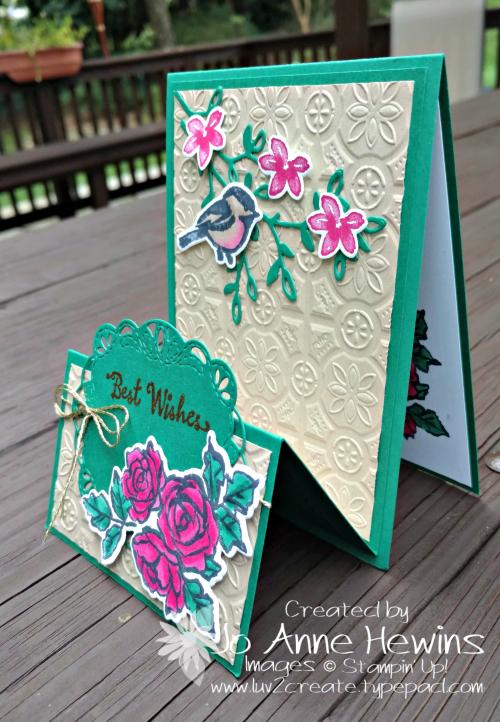 Petal Palette Fun Fold side view by Jo Anne Hewins