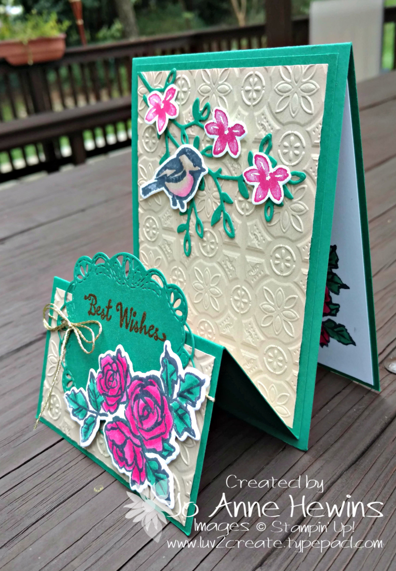 Petal Palette Fun Fold side view by Jo Anne Hewins