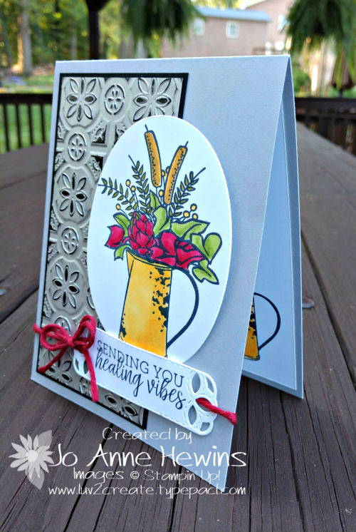 Country Home  Galvanized Metallic Foil  Tin Tile Embossing Folder by Jo Anne Hewins
