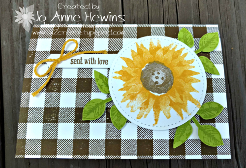 Painted Harvest Note Card by Jo Anne Hewins