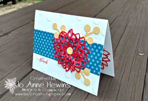CCMC #527 May Flowers Framelits Card by Jo Anne Hewins
