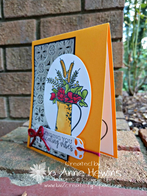 Country Home Tin Tile with Mango Melody by Jo Anne Hewins