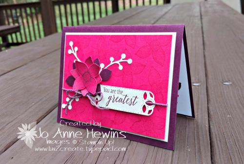 CCMC #521 Pop of Petals color challenge by Jo Anne Hewins