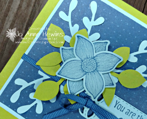 Pop of Petals close up of card by Jo Anne Hewins