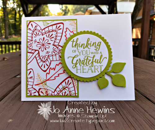 Color Fusers Falling for Leaves October card by Jo Anne Hewins