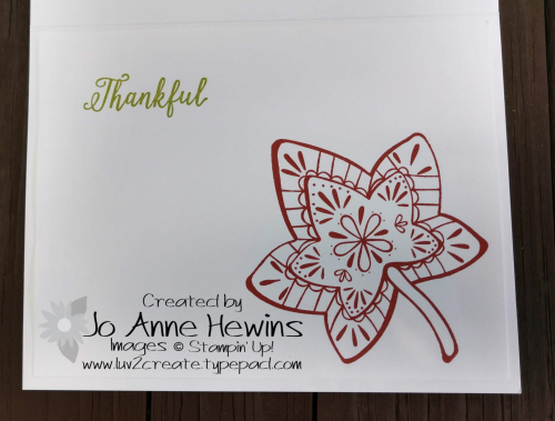 Color Fusers for October Falling for Leaves inside by Jo Anne Hewins