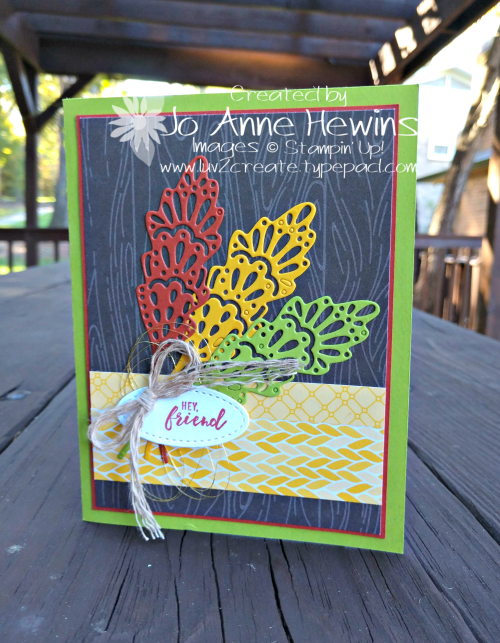 Detailed Leaves card by Jo Anne Hewins