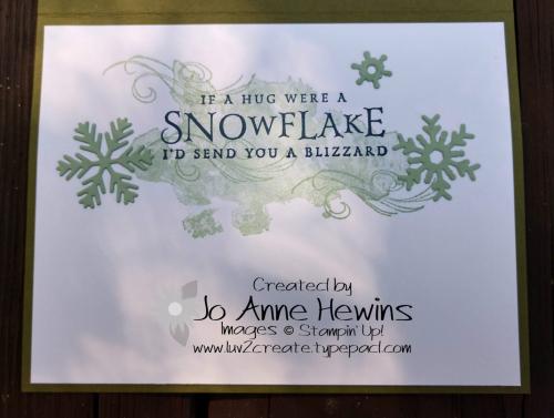 CCMC #535 Beautiful Blizzard inside by Jo Anne Hewins