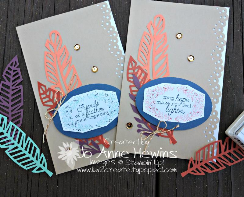 October Paper pumpkin big leaf cards by Jo Anne Hewins