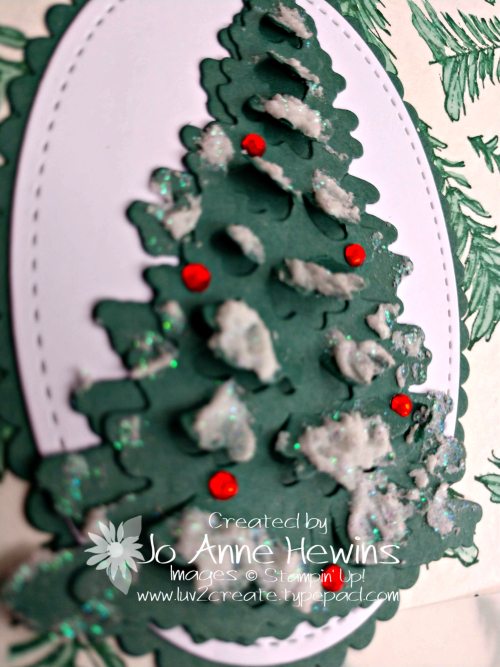Timeless Tidings Christmas Tree Close Up by Jo Anne Hewins