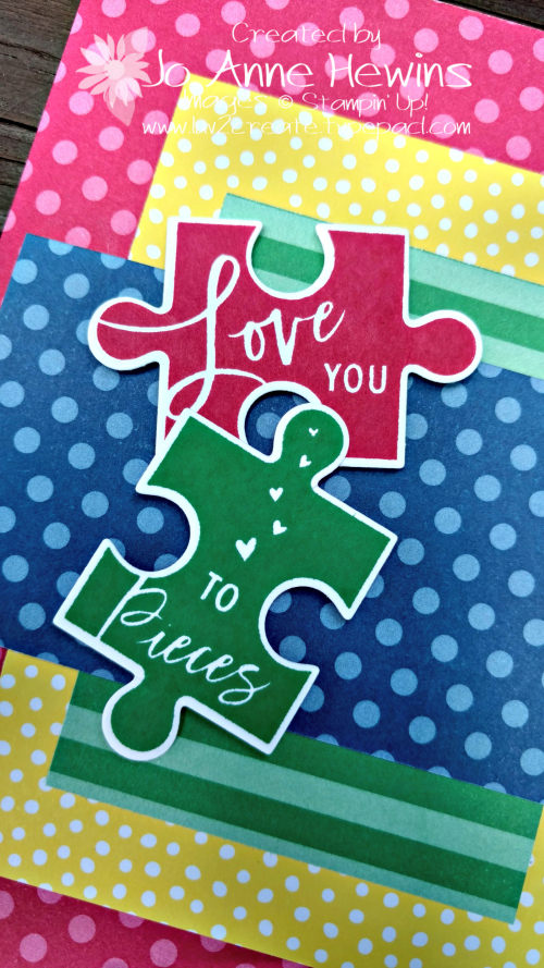 CCMC #515 Love You to Pieces card close up by Jo Anne Hewins