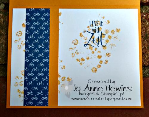 CCMC #517 Bike Ride inside of card by Jo Anne Hewins
