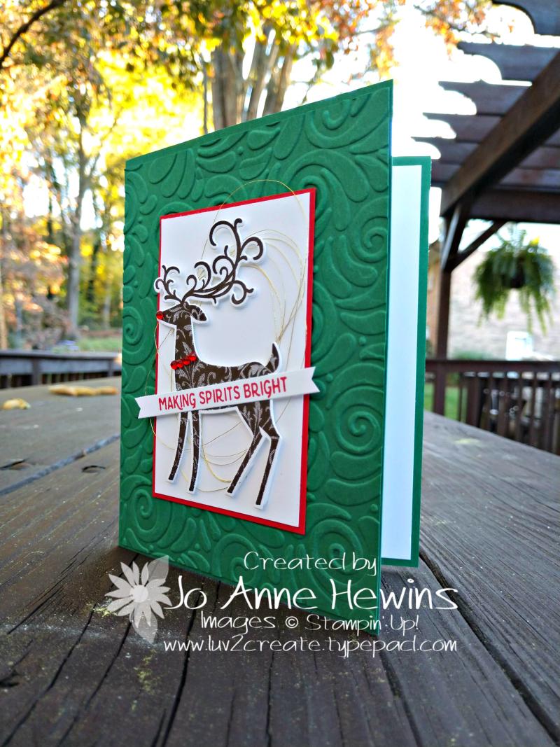 Dashing Deer Christmas card pic by Jo Anne Hewins