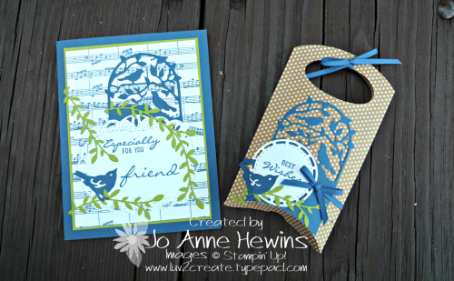 OSAT Blog Hop Creature Comforts card and pillow box by Jo Anne Hewins