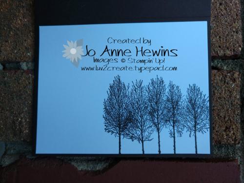 Winter Woods Vellum inside by Jo Anne Hewins