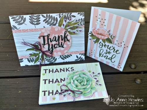 Notes of Kindness Card Kit Alternative Samples by Jo Anne Hewins