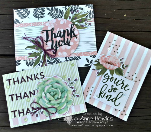 Notes of Kindness Card Kit with 3 alternative cards by Jo Anne Hewins