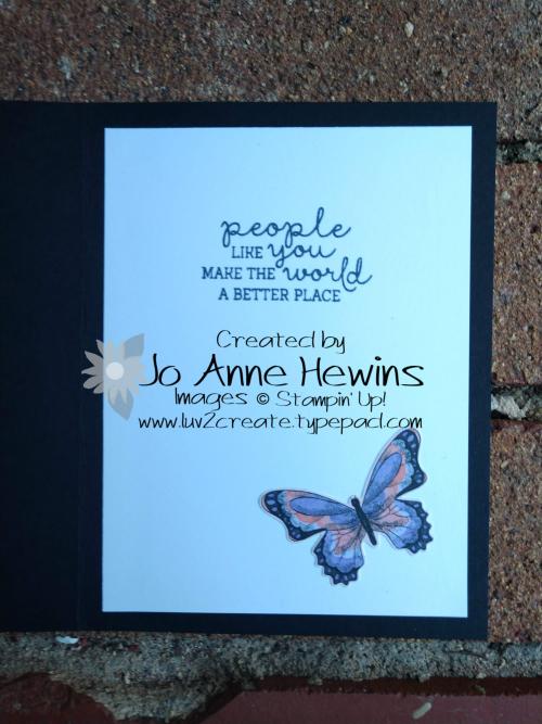 Tin Tile Butterflies inside by Jo Anne Hewins