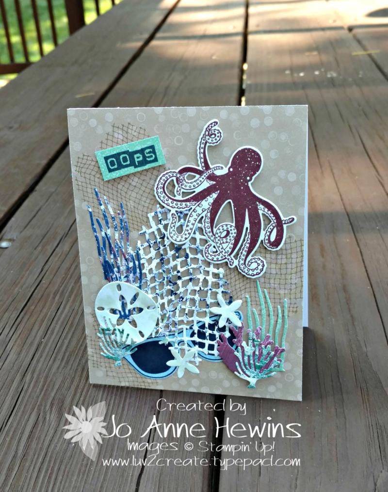 NC Demo Blog Hop Summer Fun Beach card by Jo Anne Hewins