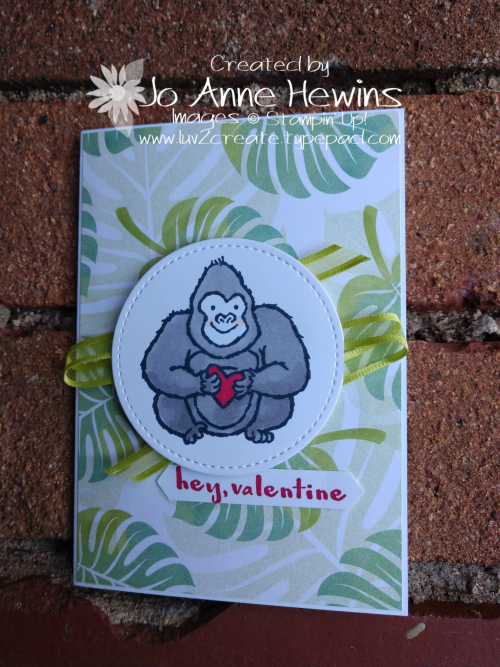 Hey  Love! Gorilla Occasional Stamper by Jo Anne Hewins