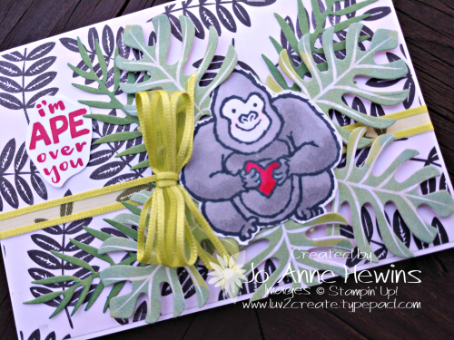 Hey  Love! Gorilla for Avid Stamper by Jo Anne Hewins