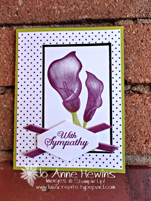 Lasting Lily occasional stamper by Jo Anne Hewins