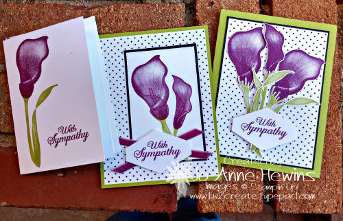 Lasting Lily Trio of cards by Jo Anne Hewins