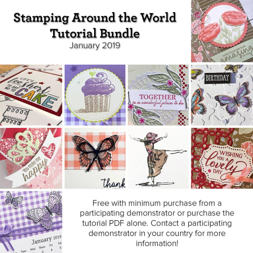 January Stamping Around the World Tutorial teaser