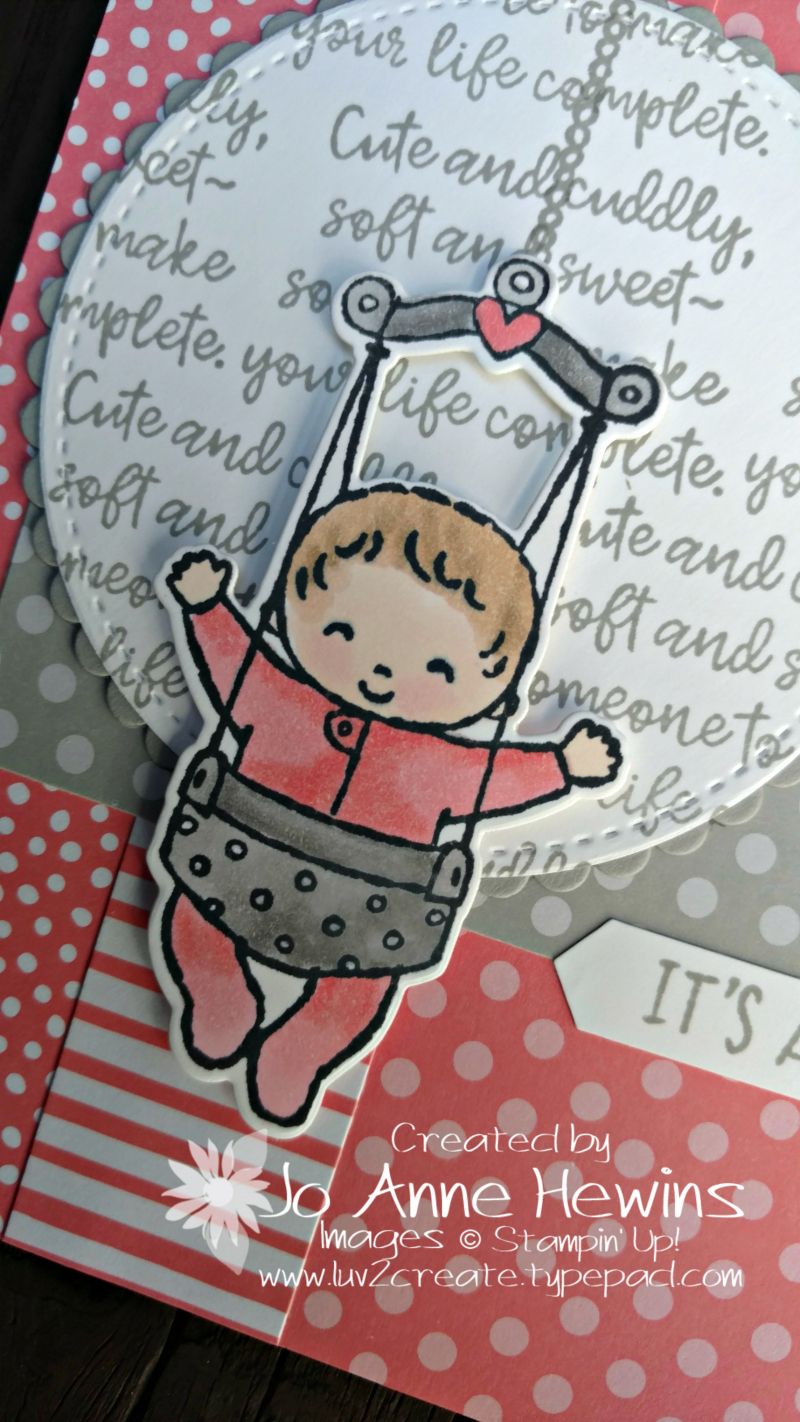 Sweet Baby bundle with Flirty Flamingo close up by Jo Anne Hewins