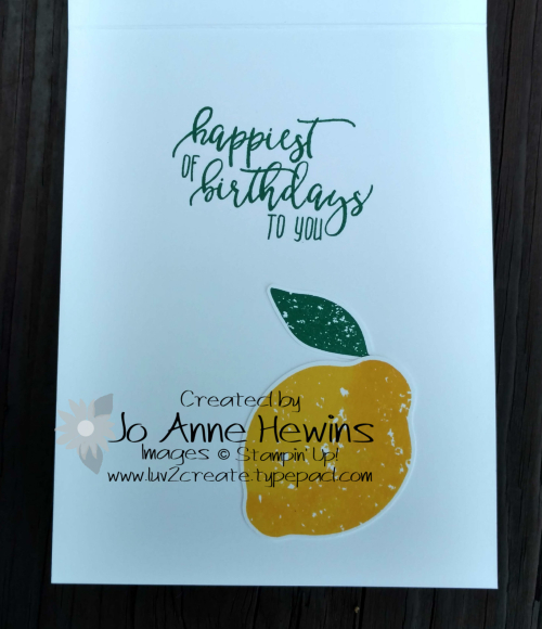 CCMC #523 Lemon Zest inside of card by Jo Anne Hewins