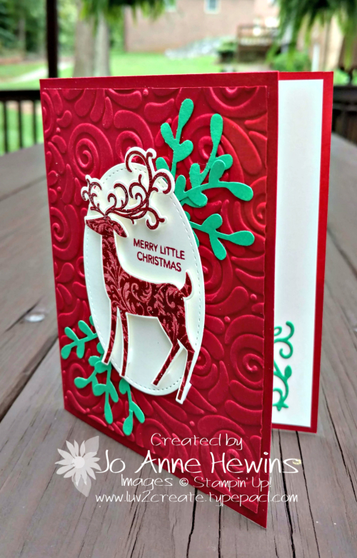 Dashing Deer Christmas Card by Jo Anne Hewins