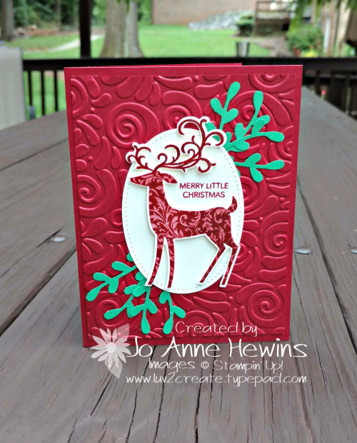 Dashing Deer by Jo Anne Hewins for Stampin' Dreams Blog Hop