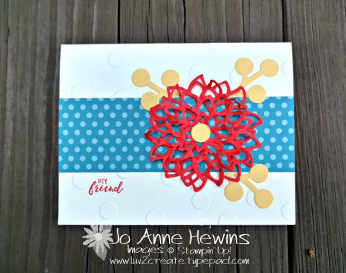 CCMC #526 by Jo Anne Hewins May Flowers Framelits
