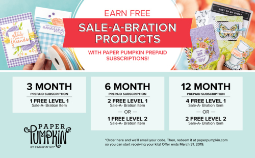 SAB earn with Paper Pumpkin