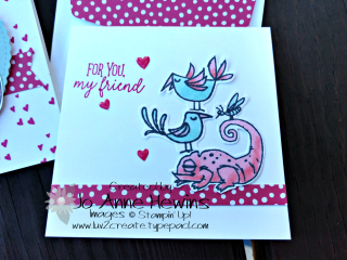 Be Mine Valentine Paper Pumpkin animals one on top of another by Jo Anne Hewins