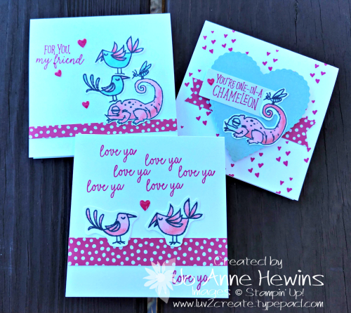 Be Mine Valentine Paper Pumpkin 3 x 3 All Three Cards by Jo Anne Hewins