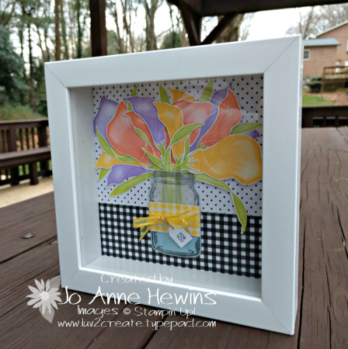 NC Demo Blog Hop for January Lasting Lily Frame by Jo Anne Hewins