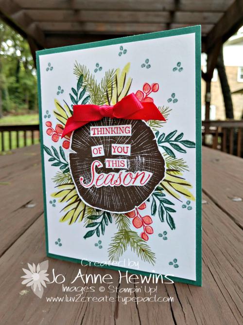 Peaceful Noel Christmas card by Jo Anne Hewins
