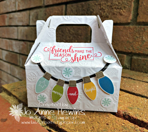 Making Christmas Bright Gable Box Treat by Jo Anne Hewins
