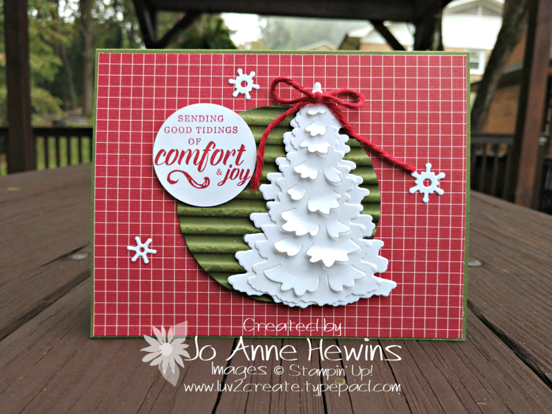 Festive Farmhouse and Winter Woods card by Jo Anne Hewins