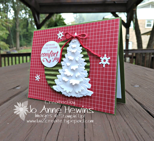Festive Farmhouse plus Winter Woods card by Jo Anne Hewins