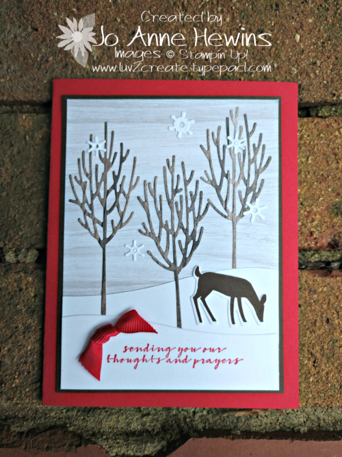 Winter Woods and Dashing Deer by Jo Anne Hewins