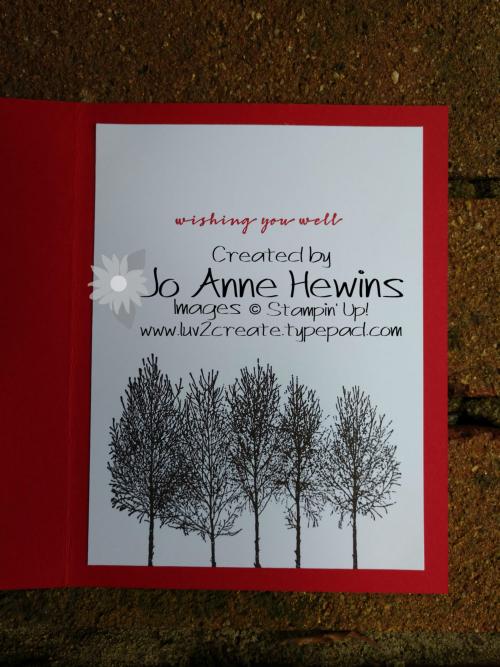 Winter Woods inside by Jo Anne Hewins