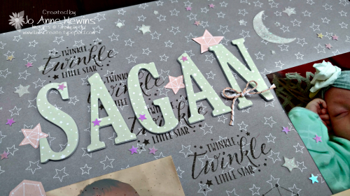 Litle Twinkle Sagan's name by Jo Anne Hewins