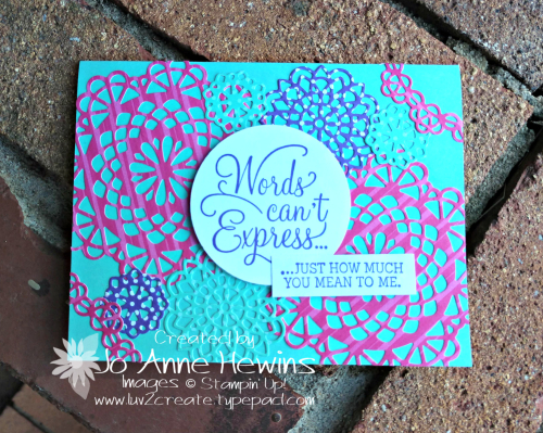 CCMC #547 Dear Doily bundle card by Jo Anne Hewins