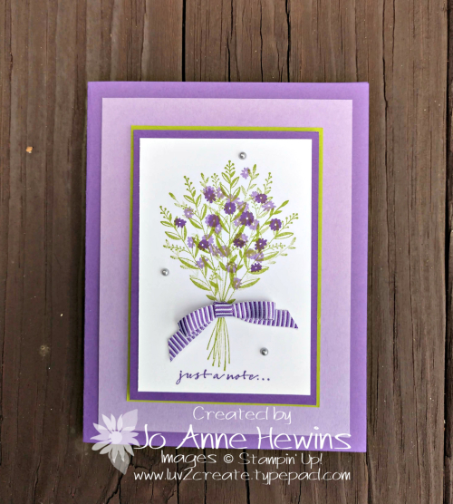 Wishing You Well card by Jo Anne Hewins