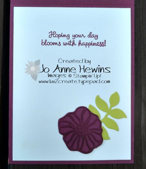 Delightfully Detailed inside of card by Jo Anne Hewins